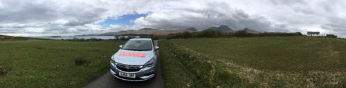 Wild about Scotland car on the Isle of Jura