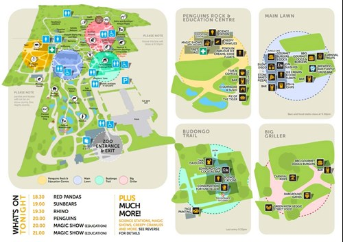 Edinburgh Zoo Nights Event Map 2017