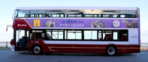 Edinburgh Zoo Otter Lothian Bus