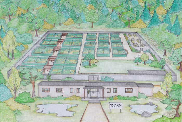 Artists impression of the RZSS National Wildlife Reintroduction Centre