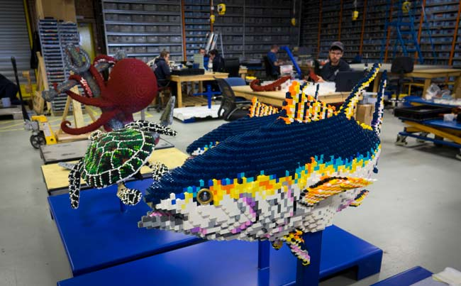 BRICKLIVE Ocean exhibit made from LEGO® bricks coming to Edinburgh Zoo