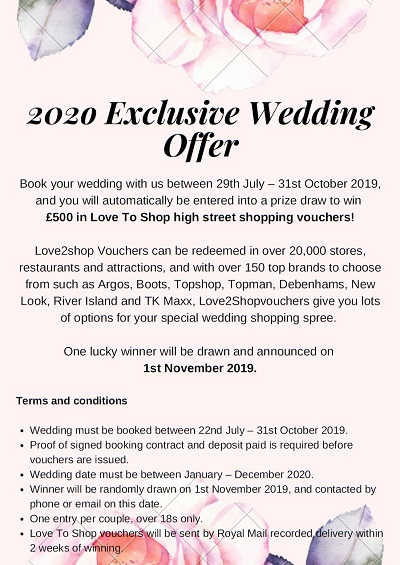 2020 Exclusive Wedding Offer